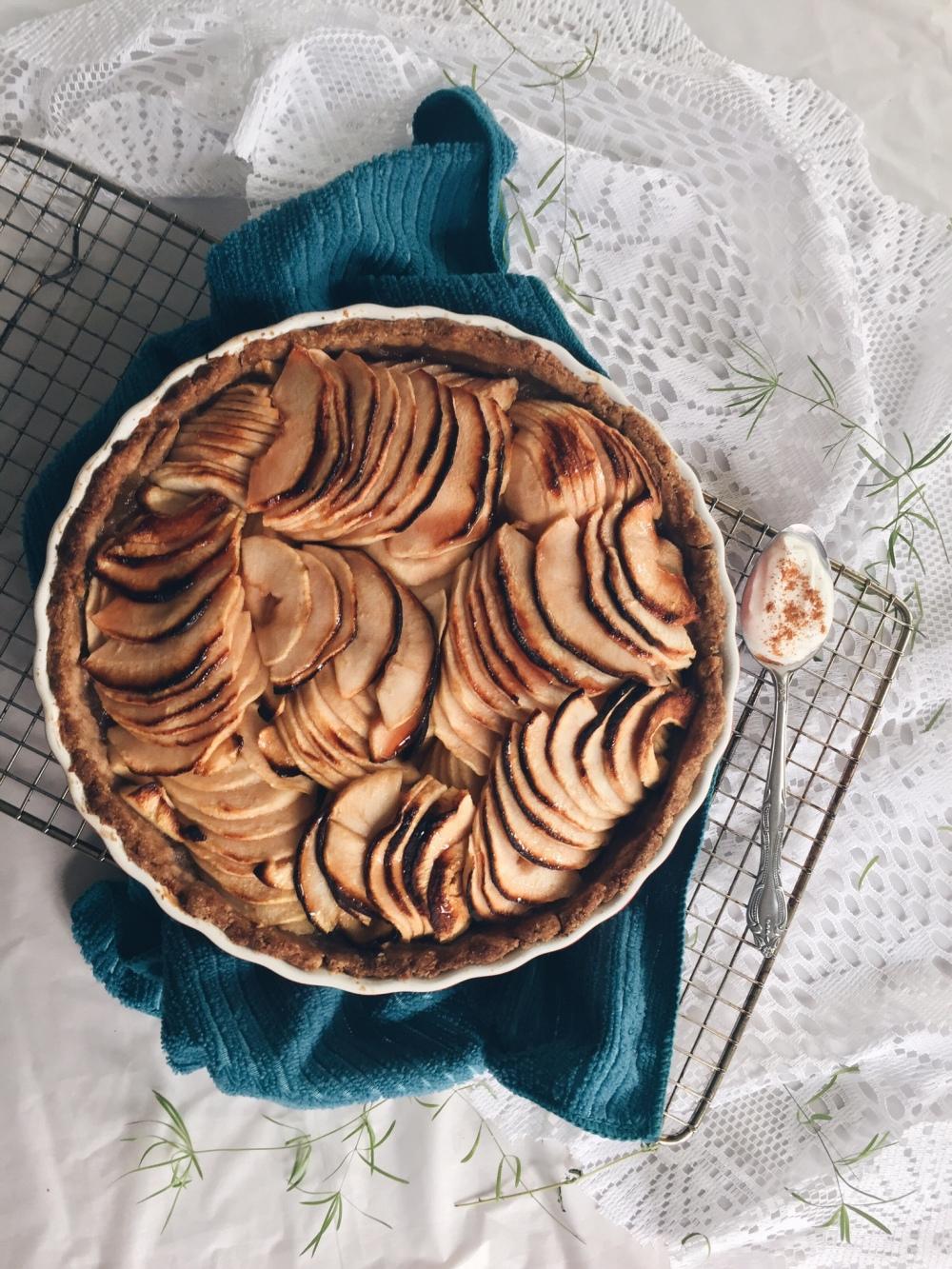 tarte aux pommes et érable