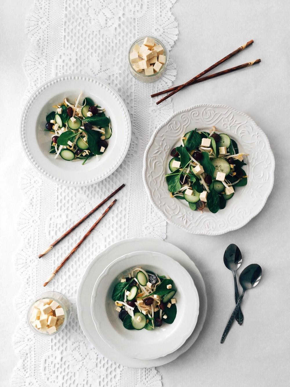 salade-epinard-raisin-tofu