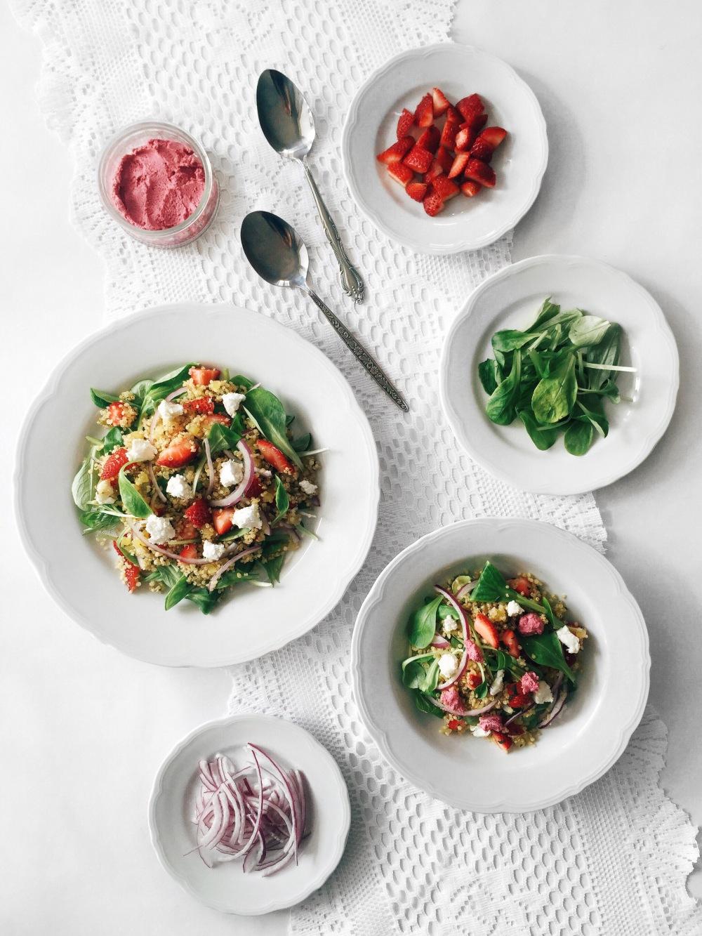 salade-quinoa-betterave-fraises