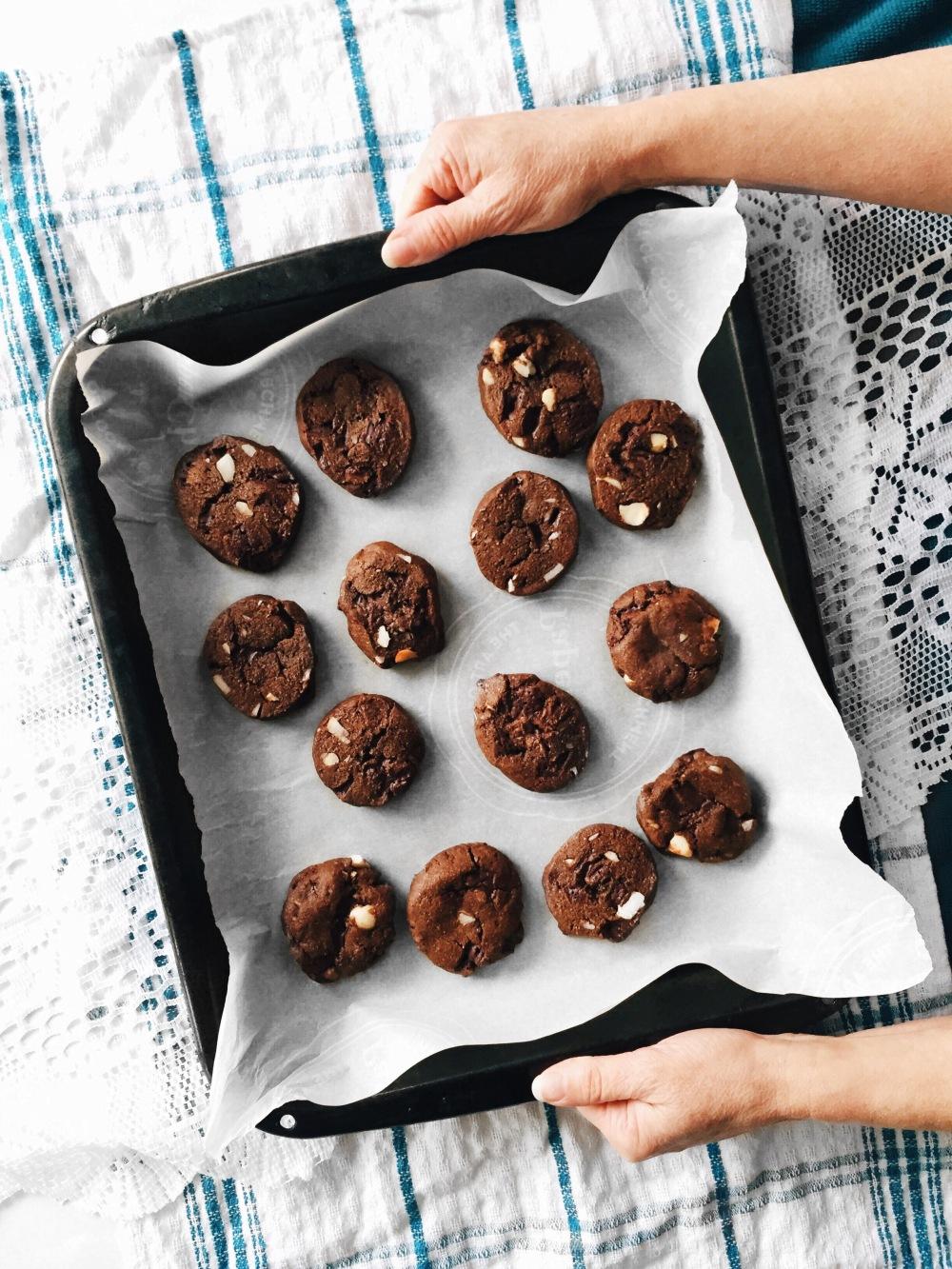biscuits double chocolat santé végane aux noix de macadam Cuisine estudiantine