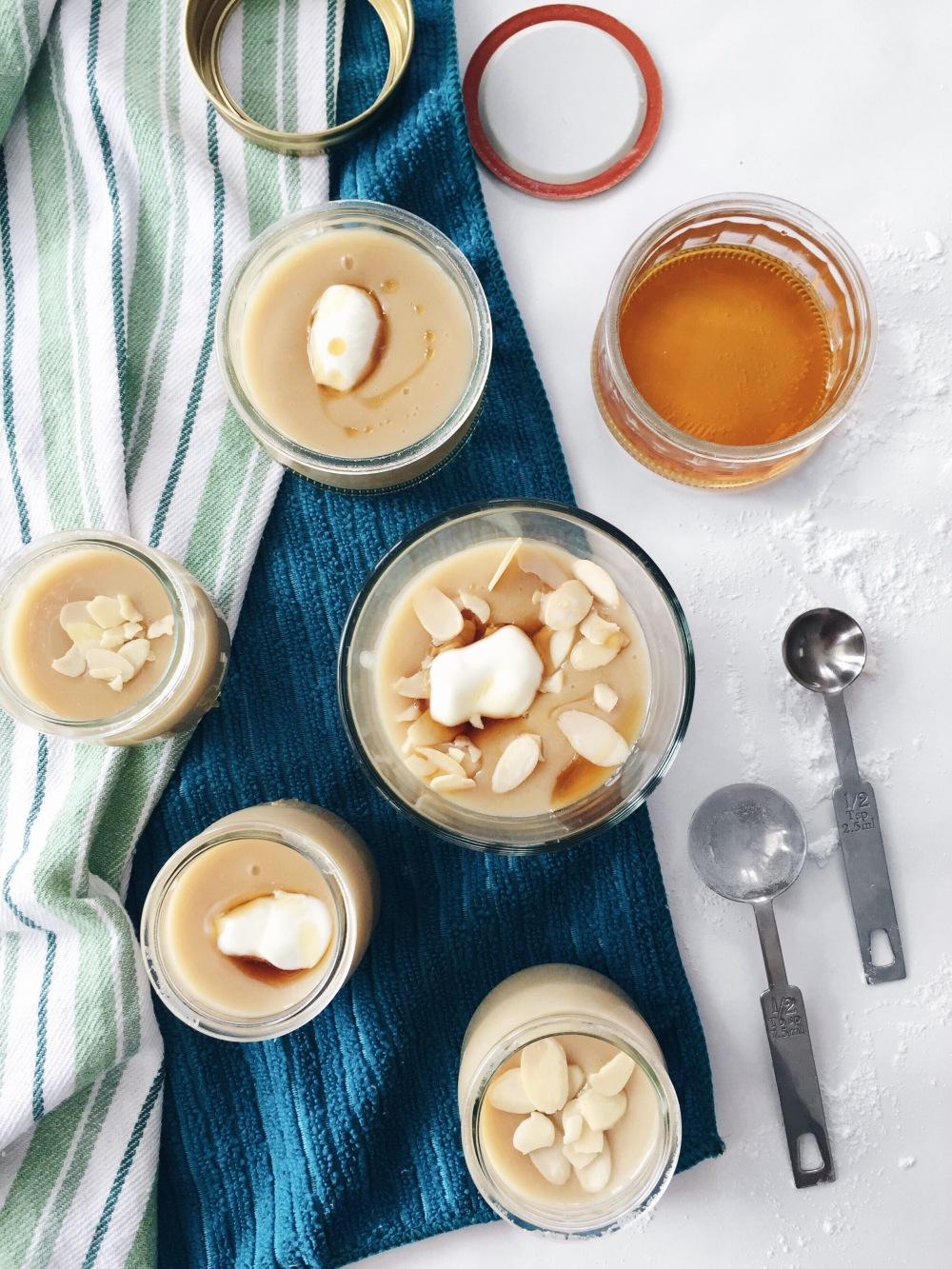 Pouding express et santé au beurre d'arachide, au sirop d'érable et à la vanille