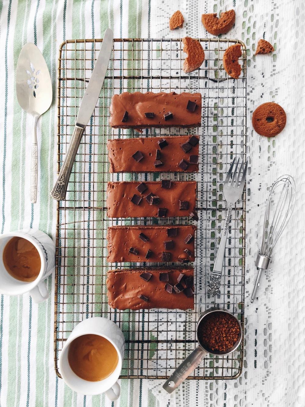 Tarte végane au café, au chocolat et à l'érable