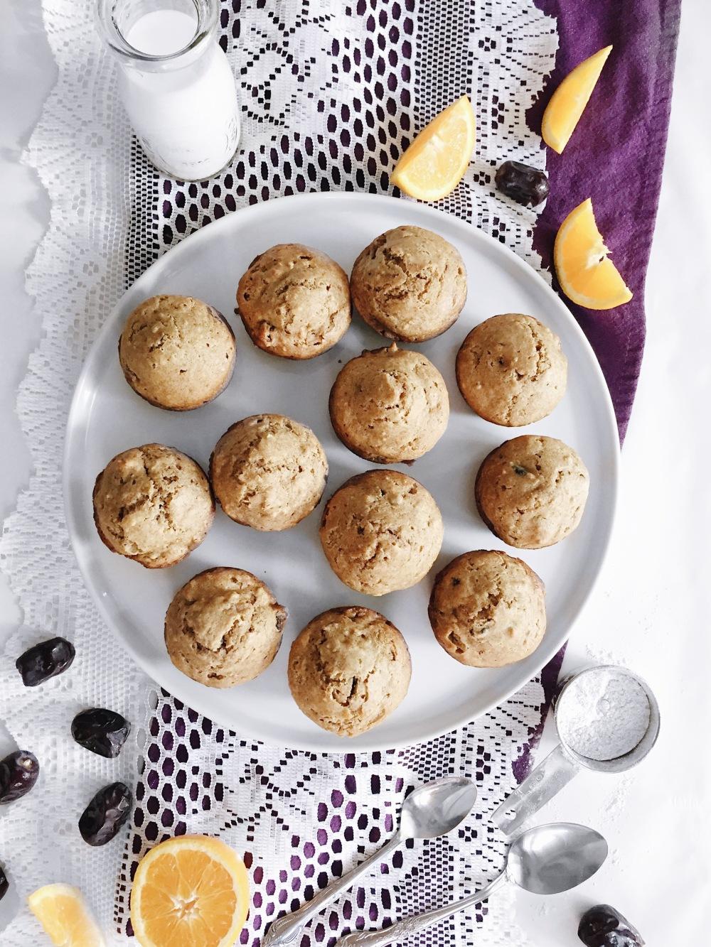 Muffins aux dattes santé